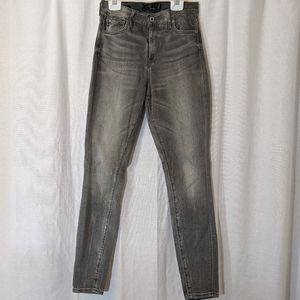 Lucky Brand Grey Faded Stretch Skinny Jeans Sz 2